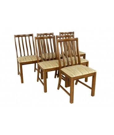 Lane First Edition Style Keller Mid Century Walnut Dining Chairs - Set of 6