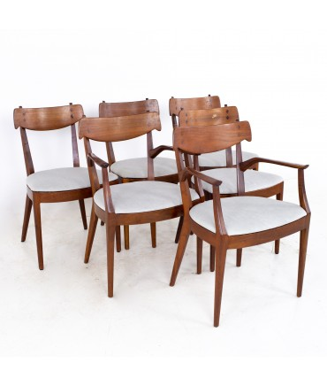 Kipp Stewart for Drexel Mid Century Dining Chairs - Set of 6