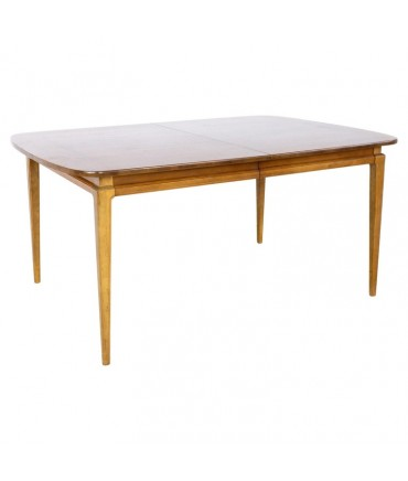 Dillingham Style Mid Century Walnut Expanding 10 Person Dining Table