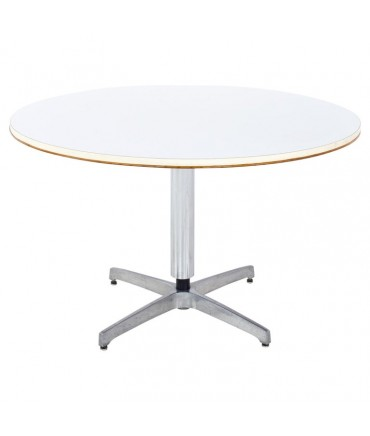 Mid Century Stainless and White Laminate Game Table