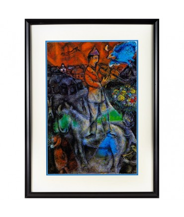 Mid Century Marc Chagall 1977 Framed Lithograph
