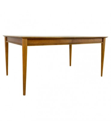 Lane First Edition Mid Century Walnut Dining Table with 2 Leaves