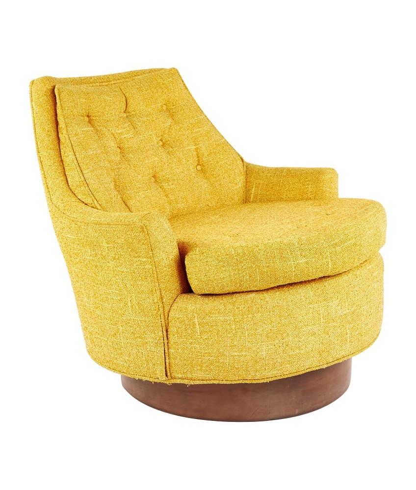 Adrian Pearsall Style Mid Century Swivel Lounge Chair
