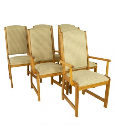 D-Scan Style Mid Century Teak Dining Chairs - Set of 6