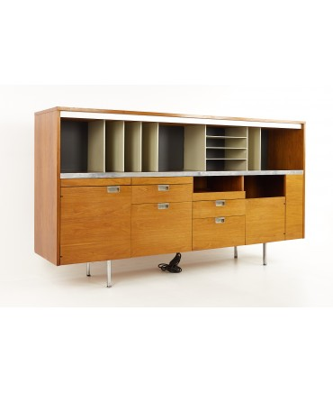 George Nelson For Herman Miller Mid Century Large Walnut Office Credenza