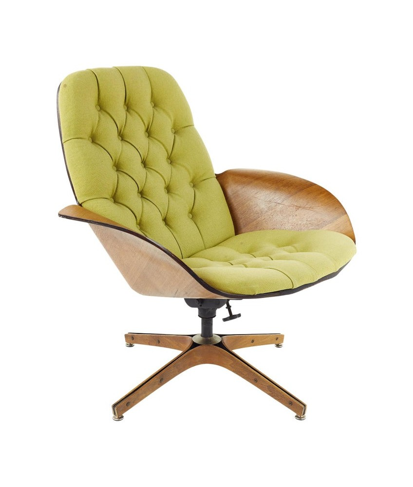 George Mulhauser for Plycraft Mid Century Tufted Mrs Chair