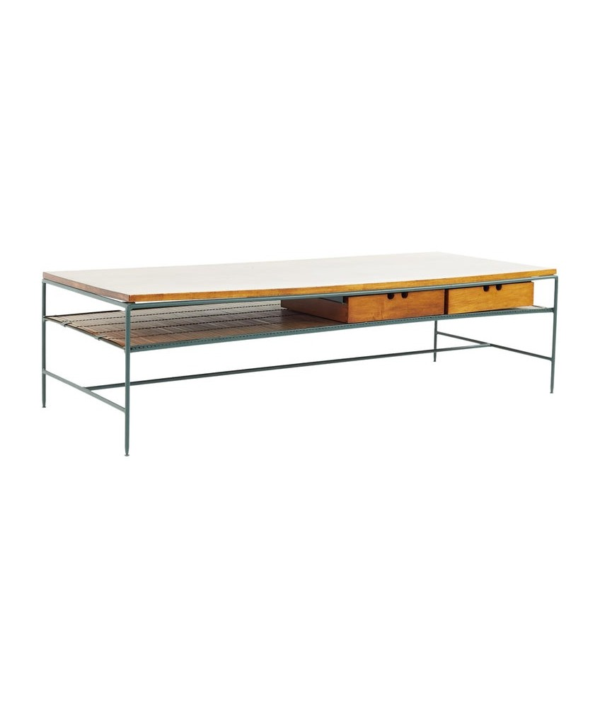 Paul McCobb for Planner Group Mid Century Iron and Bamboo Coffee Table