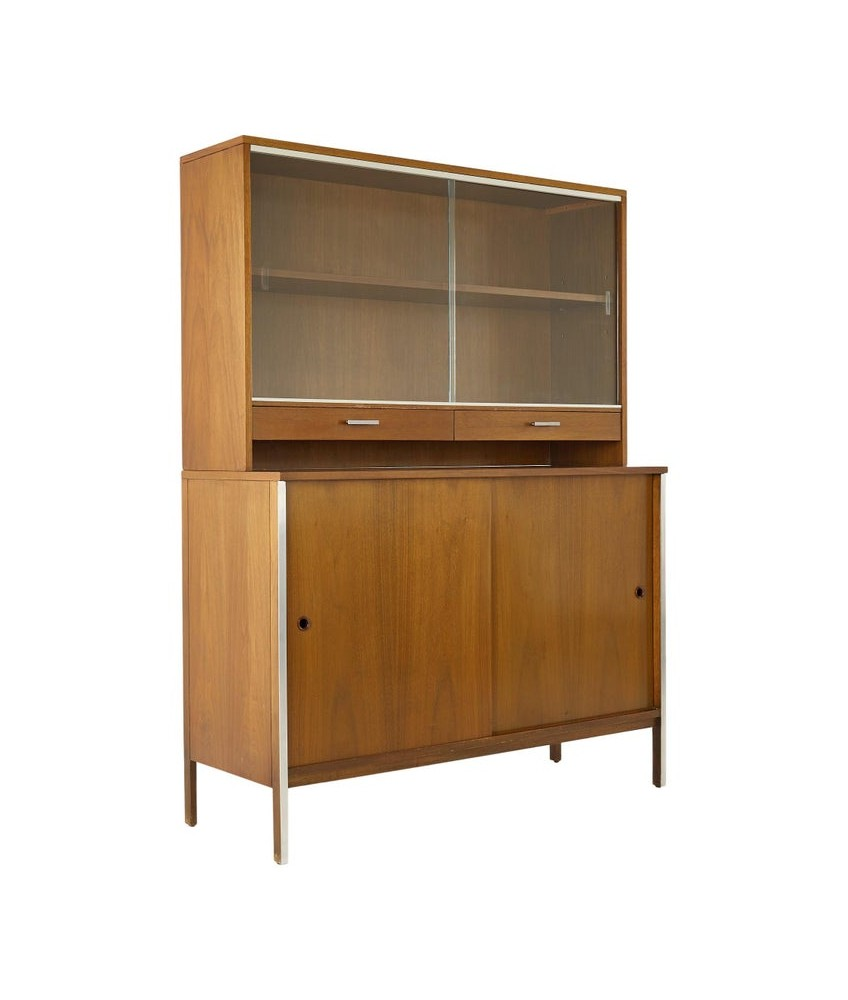 Paul McCobb for Calvin Mid Century Sideboard Credenza Buffet with Hutch