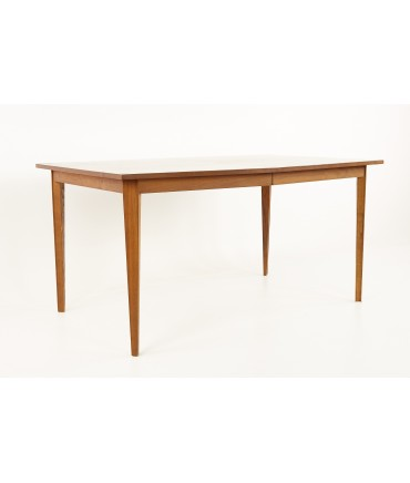 Stanley Mid Century Walnut Expanding Dining Table