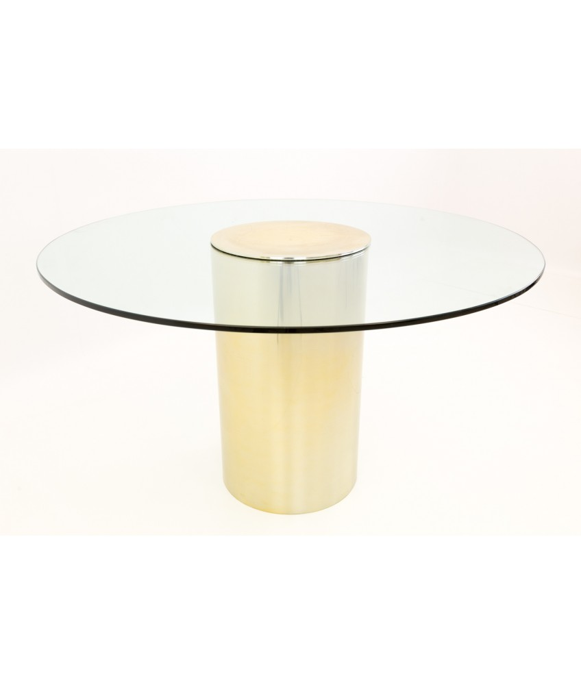 Paul Mayen For Habitat Br And Gl Drum Dining Table