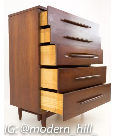... Harmony House Formica Top Mid Century Highboy Dresser Chest. New