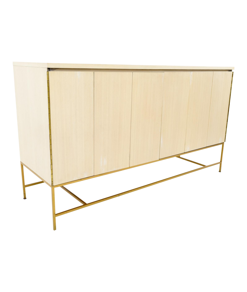 Paul McCobb for Calvin White Brass Base Sideboard Credenza Buffet