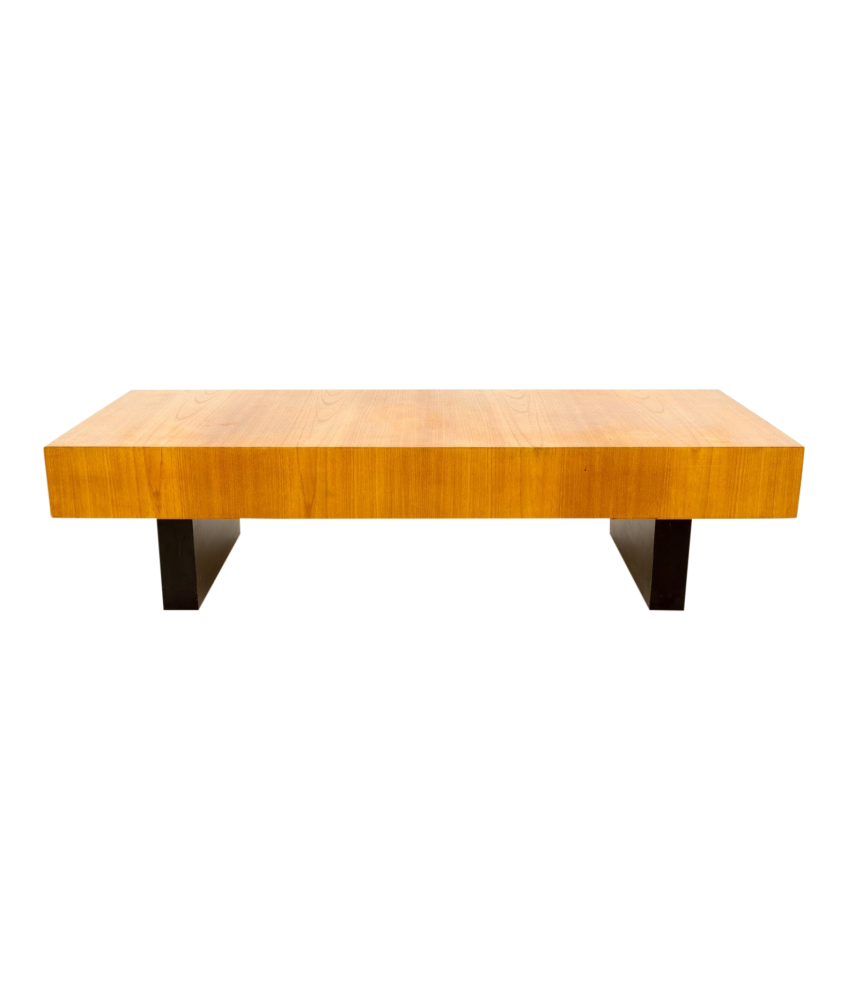 Clausen And Sons Style Bench Coffee Table With Side Drawers
