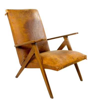 Pierre Jeanneret Attributed Mid Century Lounge Chair
