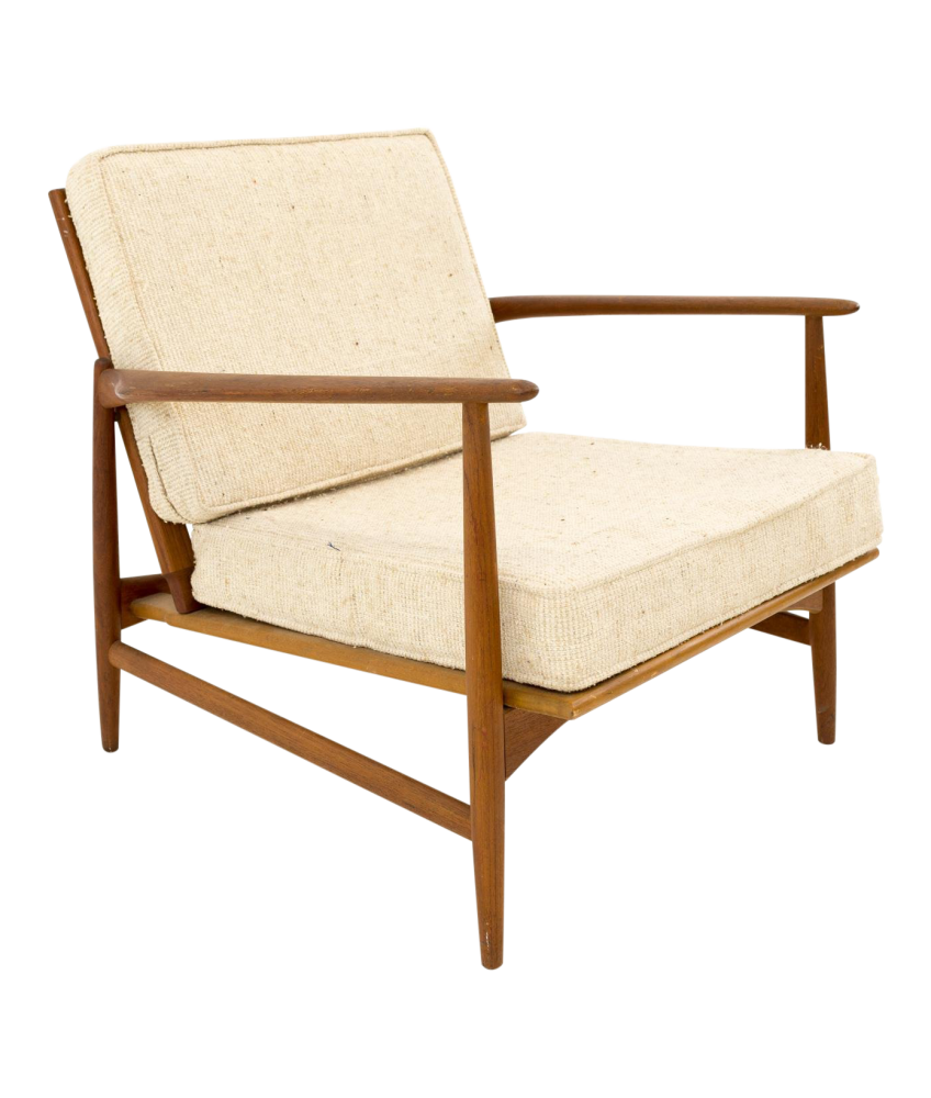Kofod Larsen for Selig Danish Teak Lounge Chair