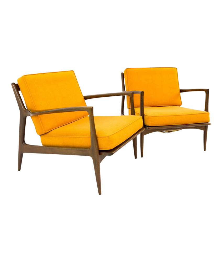 Kofod Larsen for Selig Danish Modern Lounge Chairs - Pair