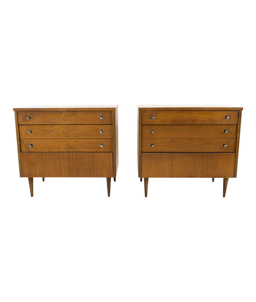 Stanley Laminate Top Chest of Drawers Dresser or Nightstand - Matching Pair
