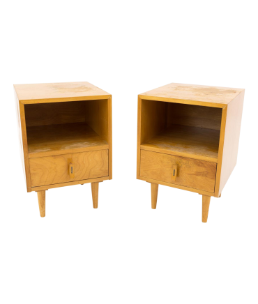 Stanley Young for Glenn of California Blonde Nightstands - Matching Pair