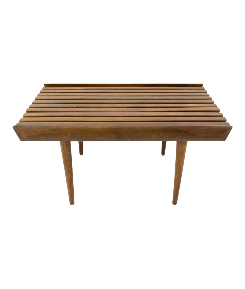 George Nelson Style Small Short Slat Bench