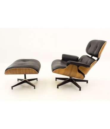 Eames for Herman Miller Mid Century Modern Lounge Chair in Walnut with Ottoman