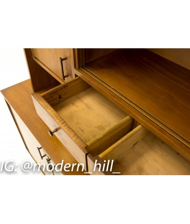 Kroehler Paul McCobb Style Mid Century Sideboard Credenza Buffet and Hutch