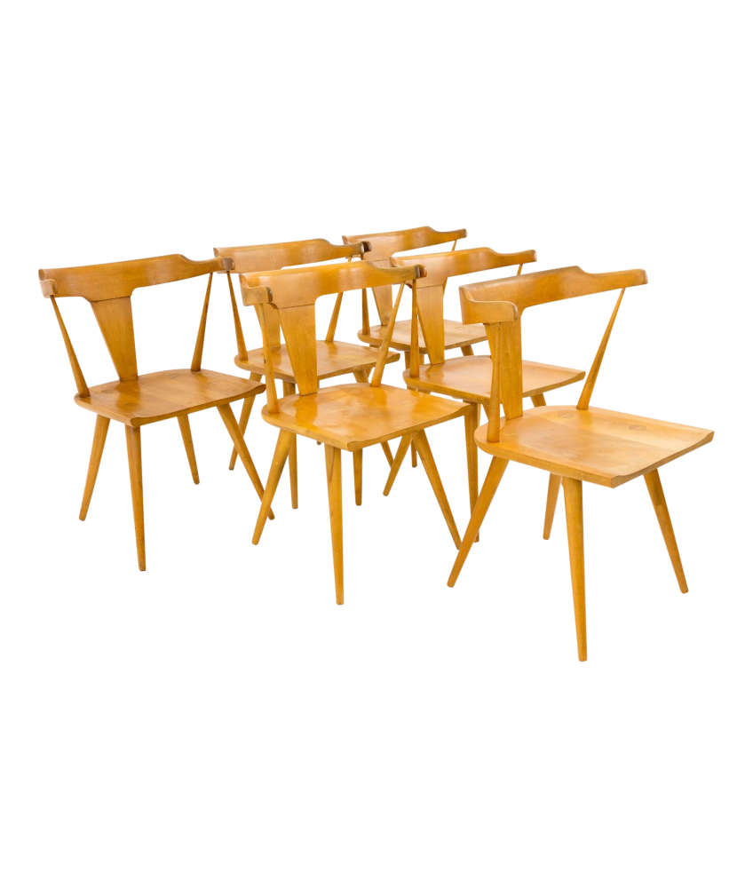 Paul McCobb for Planner Group Mid Century Blonde Wood Dining Chairs Set of 6