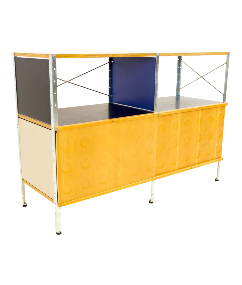 Charles and Ray Eames for Herman Miller ESU Storage Unit Shelves 2x2 with Doors