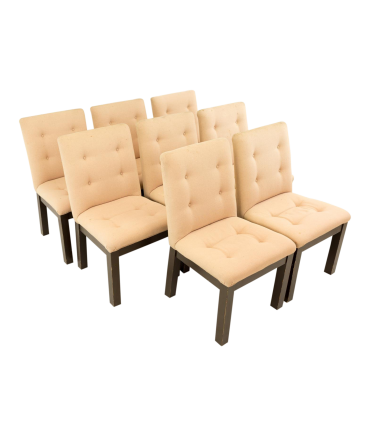 Mid Century 1970s Upholstered Dining Chairs Set of 8