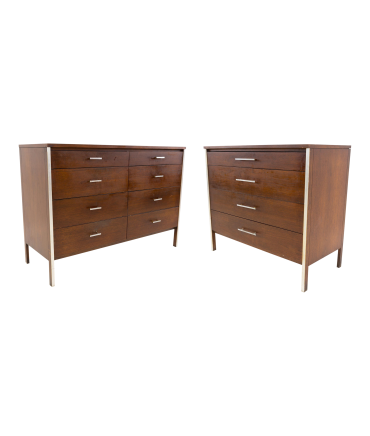 Paul McCobb for Calvin Linear 2 Piece Mid Century Modern Vanity Set