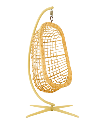 Mid Century Modern Rattan Hanging Pod Egg Swing Chair