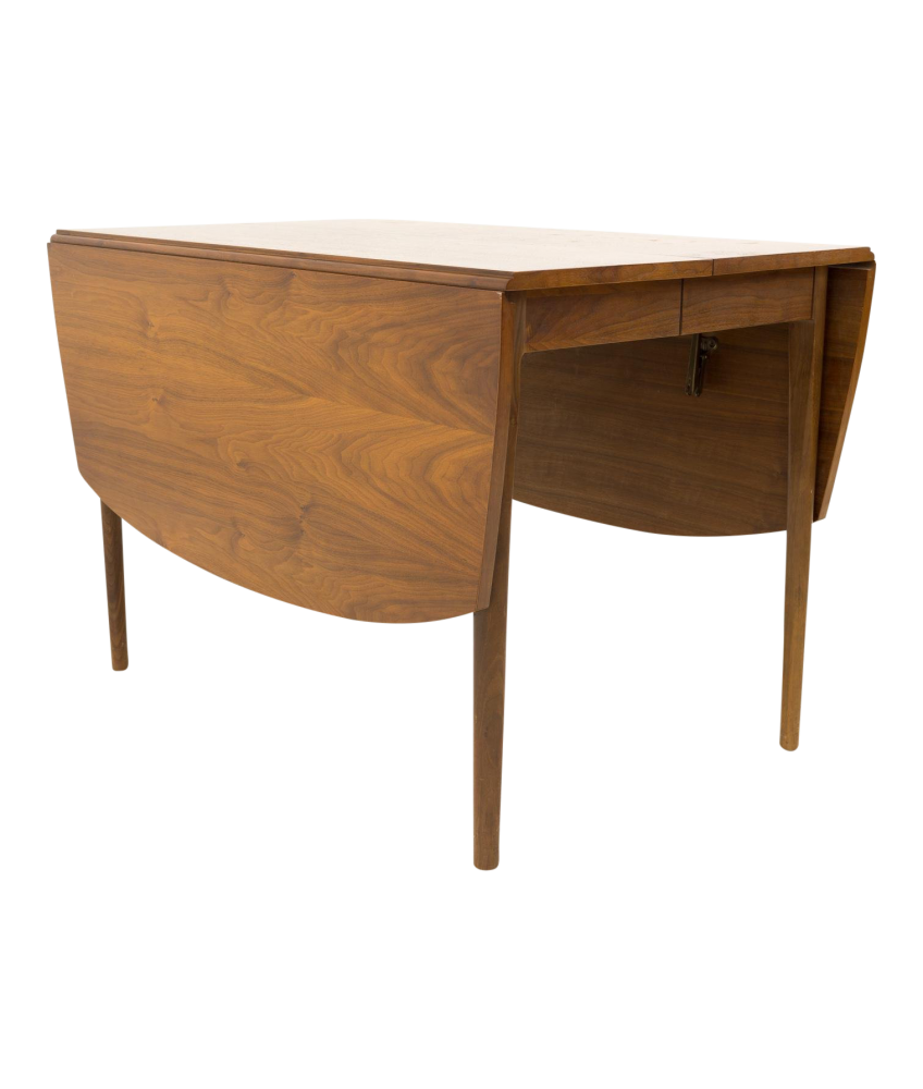Kipp Stewart for Drexel Declarations Expanding Drop Side Leaf Mid Century Dining Table