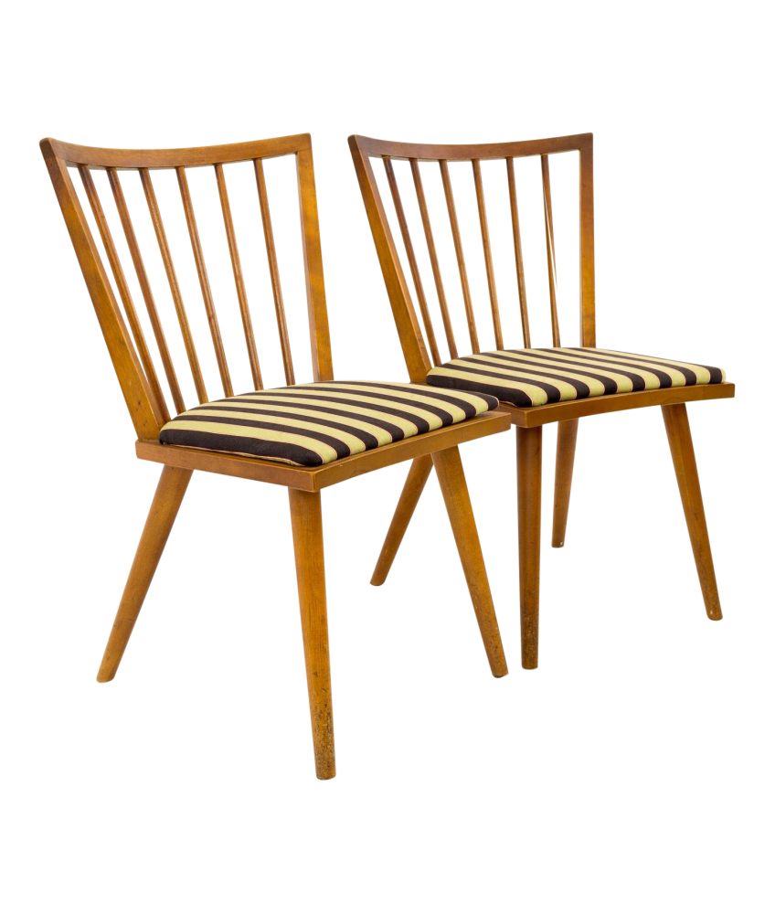 Leslie Diamond for Conant Ball Mid Century Modern Windsor Dining Chairs
