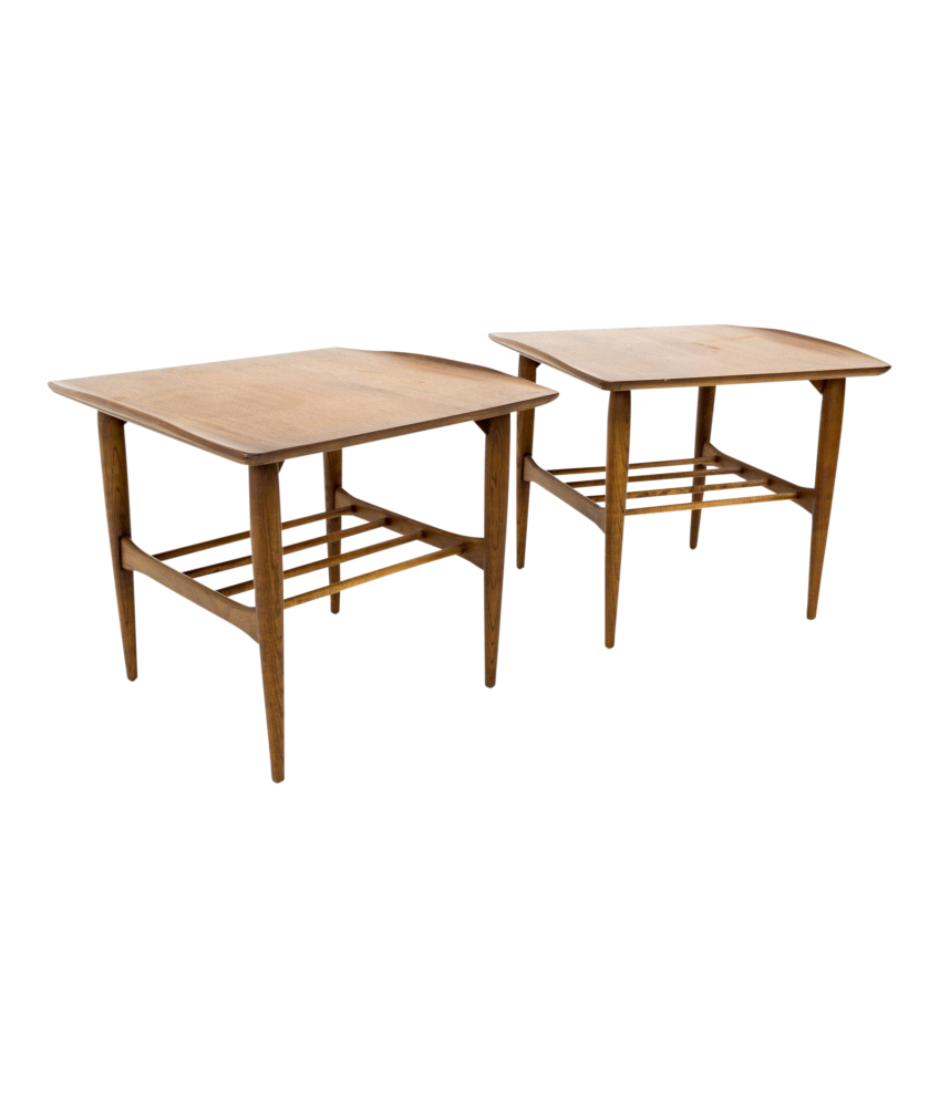 Remarkable Bassett Danish Modern Greta Grossman Style Walnut Side End Tables Gmtry Best Dining Table And Chair Ideas Images Gmtryco