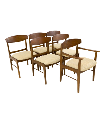 Stanley Mid Century Dining Chairs - Set of 6