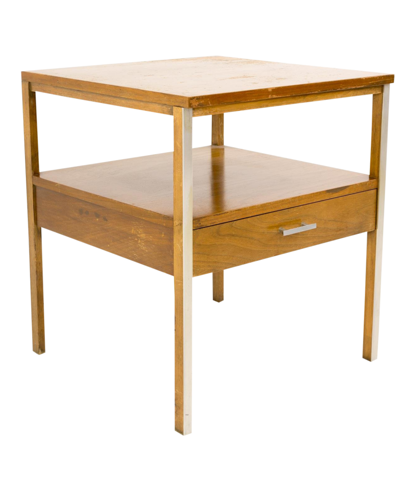 Paul McCobb for Calvin Linear Mid Century Side End Table Nightstand