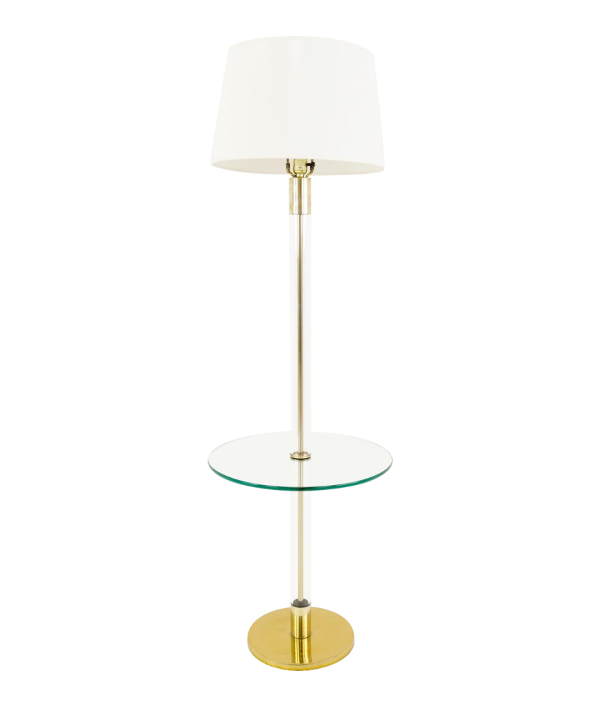 Laurel Brass And Glass Mid Century Modern Floor Lamp