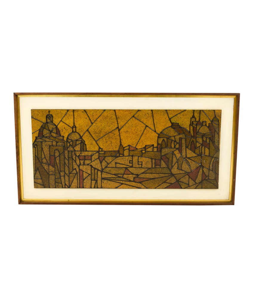 Early Harris G Strong Jerusalem Mid Century Wall Art 1955