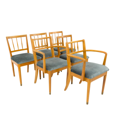 Milo Baughman for Drexel New Todays Living Spice Color Dining Chairs Set of 6
