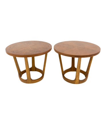 Adrian Pearsall for Lane Mid Century Round Side End Tables