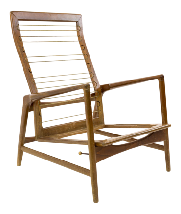 Kofod Larsen for Selig Danish Modern Highback Chair Frame