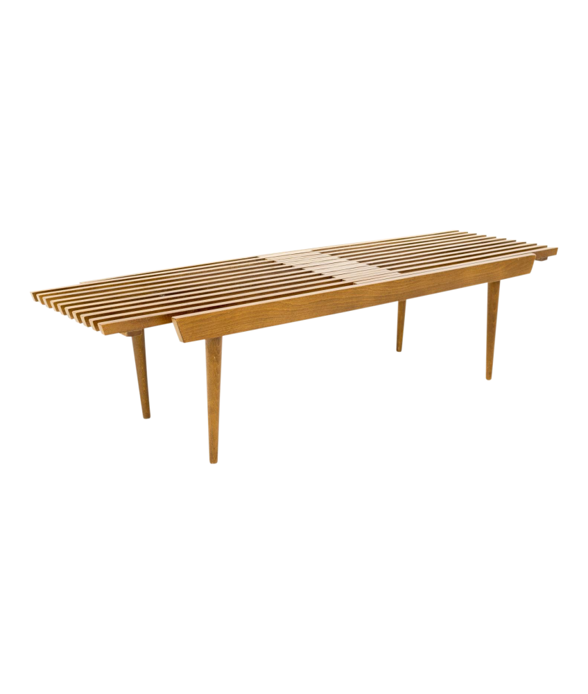 George Nelson Style Mid Century Expandable Bench