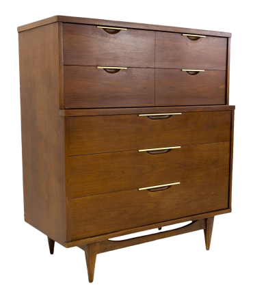 Kent Coffey Tableau Mid Century Modern Highboy Dresser with Formica Top