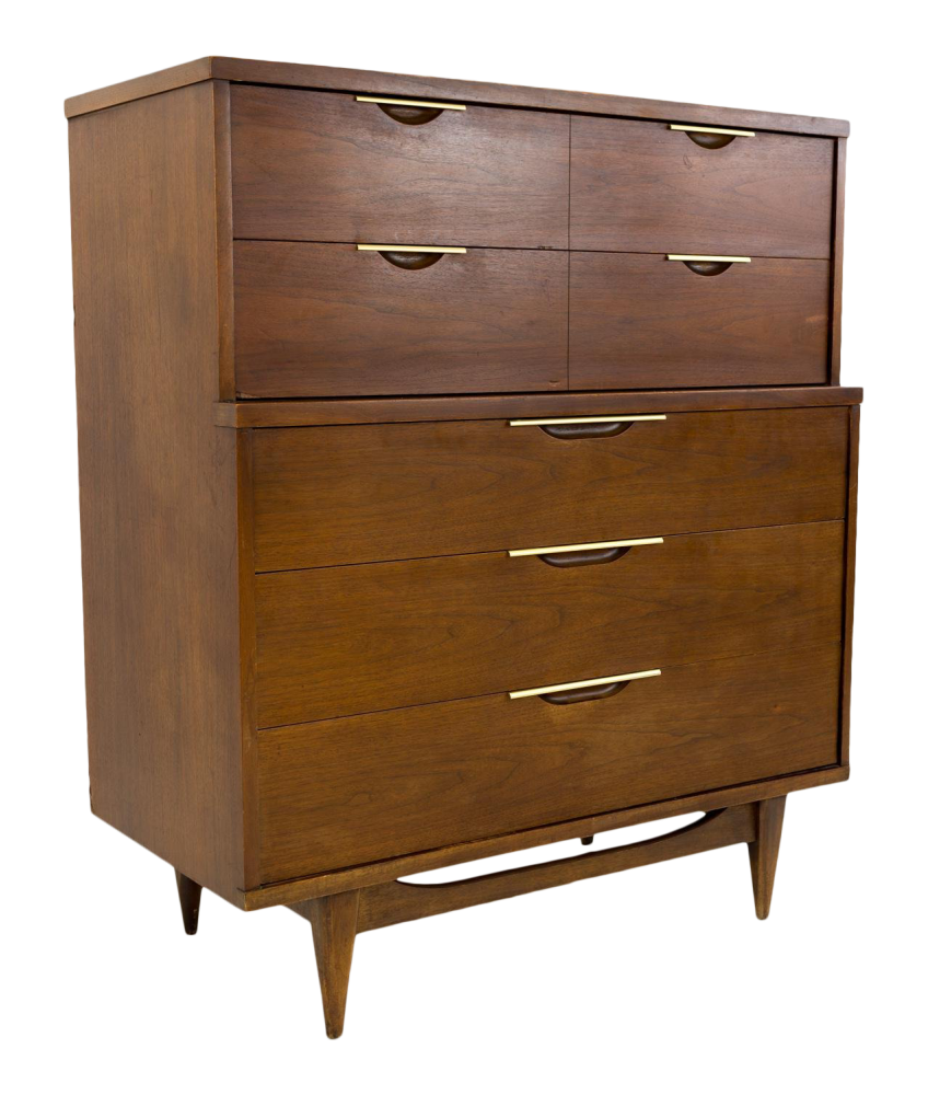 Kent Coffey Tableau Mid Century Modern Highboy Dresser