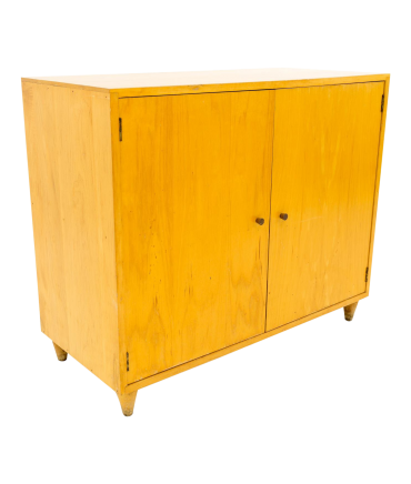 Paul McCobb Style Mid Century Small Blonde Credenza Media Cabinet