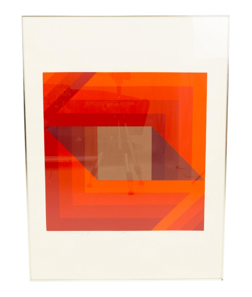 Vaccarino Community III Mid Century Abstract Geometric Lithograph