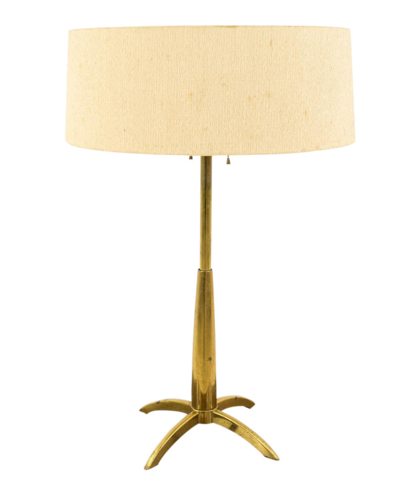 Gerald Thurston for Stiffel Mid Century Brass Rocket Table Lamp