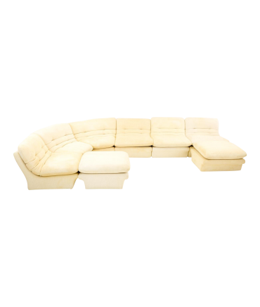 Vladimir Kagan for Preview White Mid Century Modern Sectional Sofa