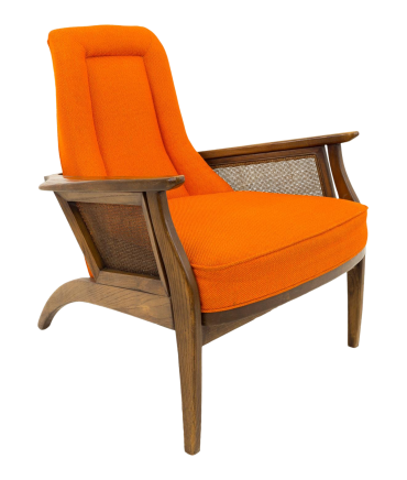 Adrian Pearsall Style Mid Century Orange Lounge Chair