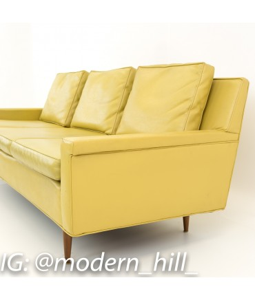 Sensational Milo Baughman For Thayer Coggin Mid Century Yellow Vinyl Sofa Onthecornerstone Fun Painted Chair Ideas Images Onthecornerstoneorg