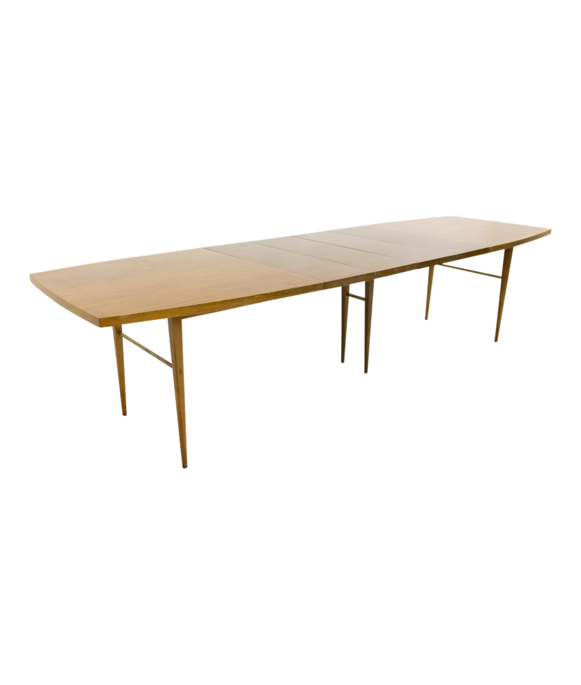 Paul McCobb for Directional 10 person Walnut Mid Century Dining Table with 4 Leaves